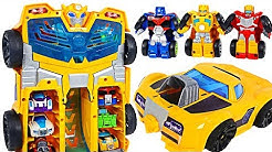 Transformers Rescue Bots Academy Bumblebee Track Tower! Go and transforming! | DuDuPopTOY