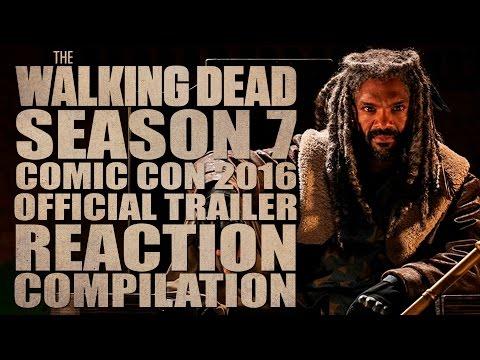 The Walking Dead Season 7 | Comic Con 2016 Official Trailer | Reactions Compilation