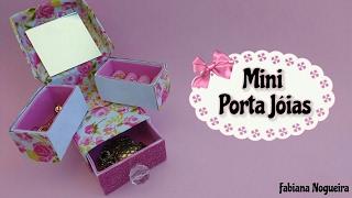 Diy – Mini Porta Joias Feito com Caixa de Leite