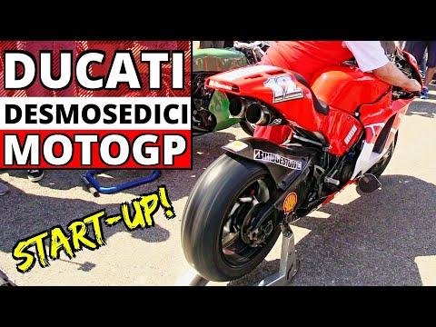 MotoGP Ducati Desmosedici GP4 ex Troy Bayliss - Engine Star-Up, Revvings & Exhaust Sound!
