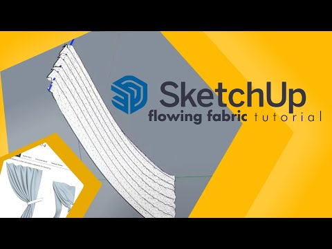 How To Make Flowing Fabric Curtains In Sketchup