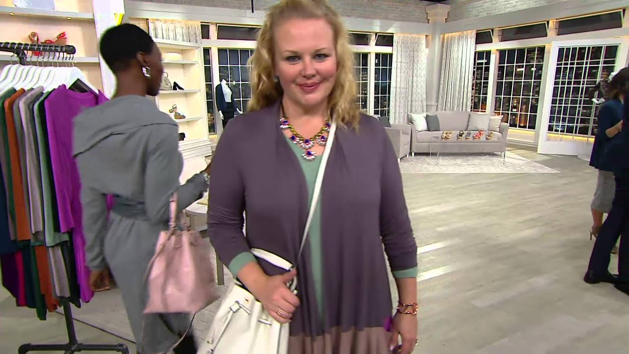ca6a08a3ee3c H by Halston Smooth Leather Drawstring Bucket Handbag on QVC - YouTube