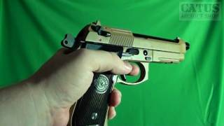Airsoft gun review : KJW Taurus PT92 RAIL, blowback CO2 pistol