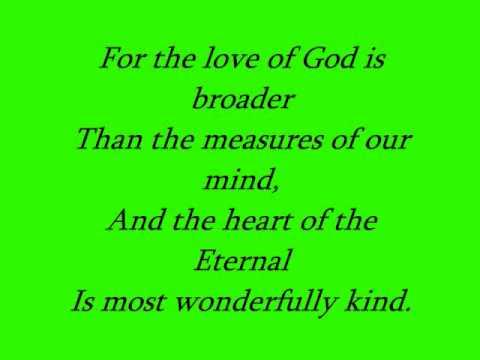 There's a Wideness in God's Mercy (Choir) W.Lyrics