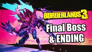 Borderlands 3 (2019) Final Boss, ENDING, & Post Credits Scene (Amara | Solo) PS4 PRO Gameplay