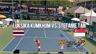 L.Kumkhum (THA) vs Stefanie Tan (SIN) Tennis Highlights | 29th KL Sea Games 2017