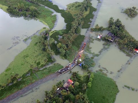 Kerala floods: Aerial view of the situations, report from inside IAF aircraft