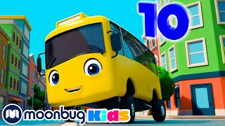 10 Little Buses + More Educational Kids Songs | Kids Learning Videos | Nursery Rhymes | ABCs And 123