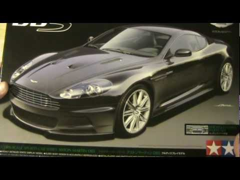 Tamiya 1/24 Aston Martin DBS, James Bond's latest ride! Unboxing and