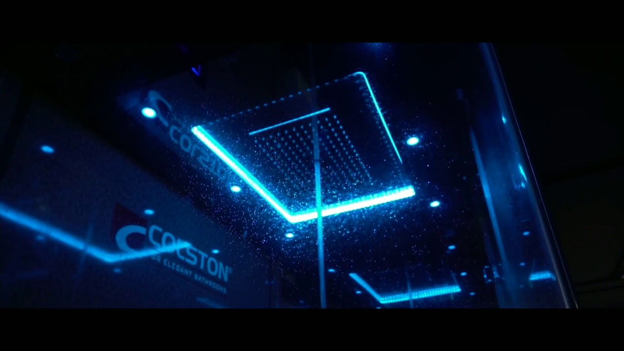 Chromotherapy Rainsky Showers by Colston - YouTube