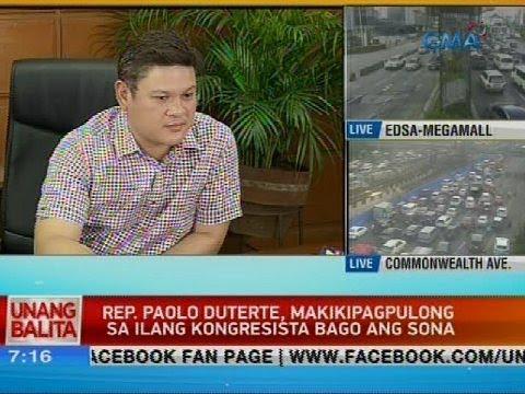 UB: Rep. Paolo Duterte, makikipagpulong sa ilang kongresista bago ang SONA