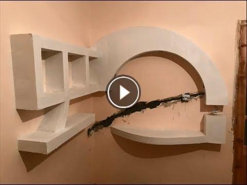 Meuble Tv En Placoplatre Ba13 Youtube