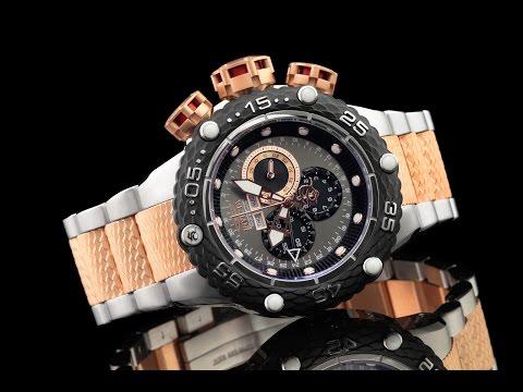 Invicta 21675 52mm Subaqua Noma VI Rose Gold & Stainless Swiss Master Calendar Chronograph Bracelet