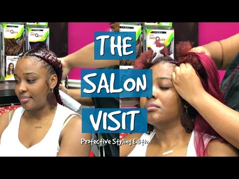 The Salon Visit | Protective Styling | Feed-in Braids/Dutch Braids ft: @Styledby_yalemichelle