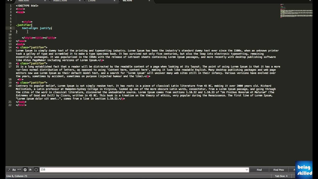 CSS Tutorial: How to justify the text : paragraph using ...