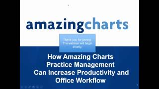 Video Webinar: Amazing Charts Practice Management - How to Increase Productivity and Office Workflow download MP3, 3GP, MP4, WEBM, AVI, FLV Juli 2018