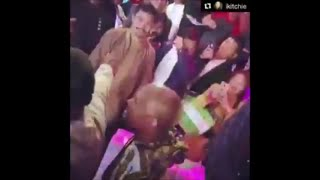 REMATCH? FLOYD MAYWEATHER BUMPS INTO MANNY PACQUIAO!!!
