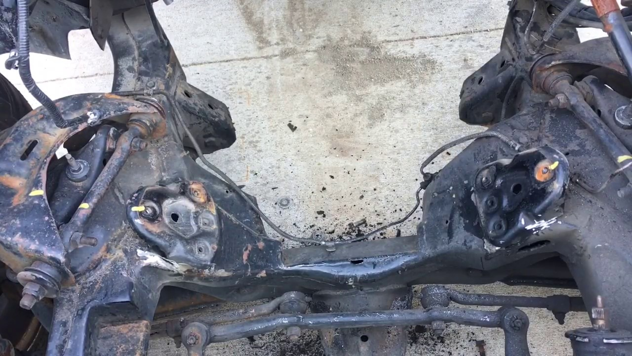 S10 LS Swap remove 2 8 V6 frame mounts/stands