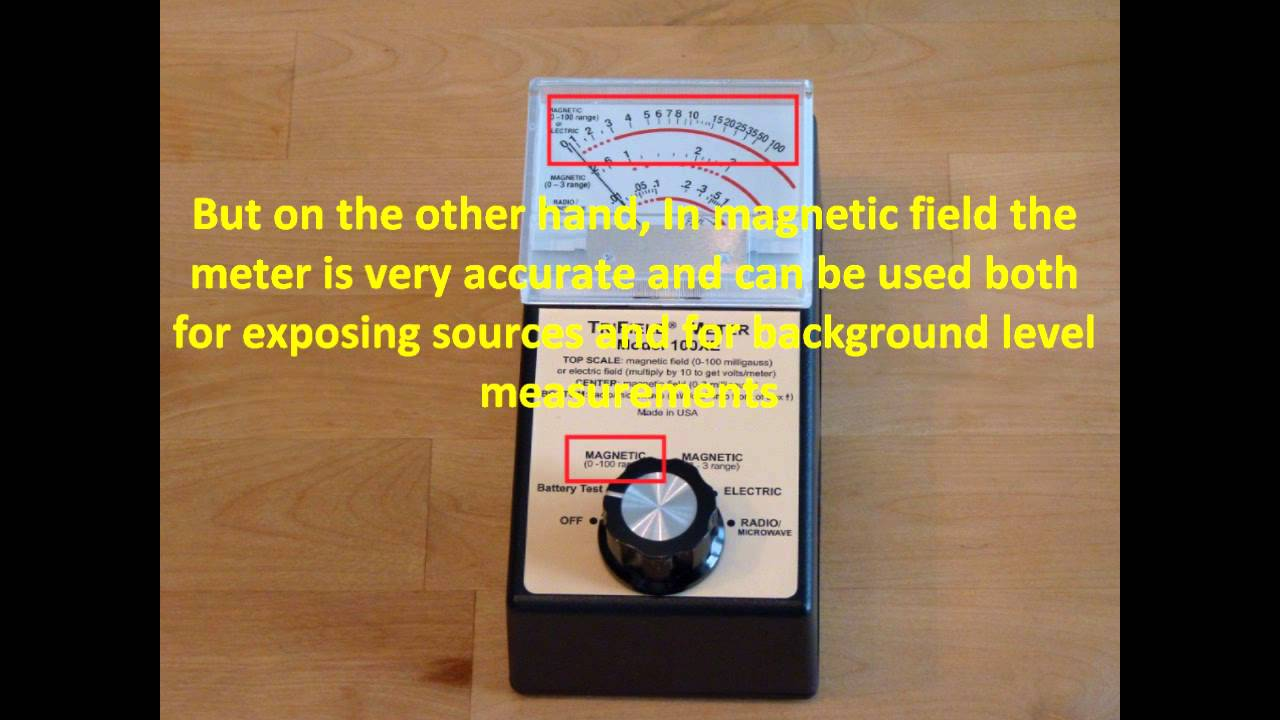TRIFIELD 100XE ELF ElectroMagnetic Radiation (EMF/EMR) meter video review