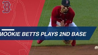 Mookie Betts' history playing second base