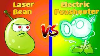 Planta vs Planta Comparar Plantas vs Zombies 2 ELÉCTRICO PEASHOOTER vs LASER BEAN