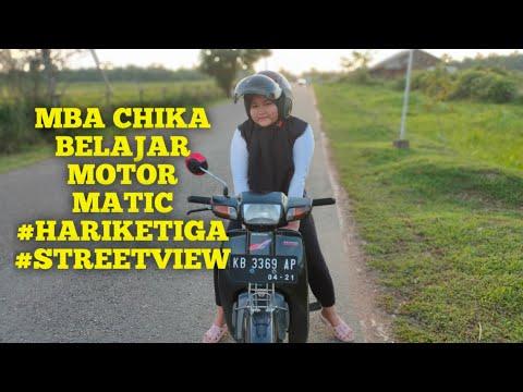 (live)-mba-chika-belajar-motor-matic-hari-ke-3-#streetview