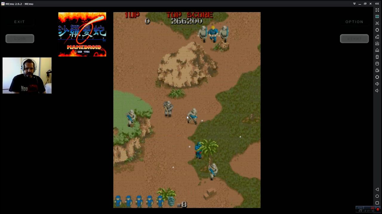 Como Jugar Commando 1985 Capcom En Emulador Mame4droid Arcade