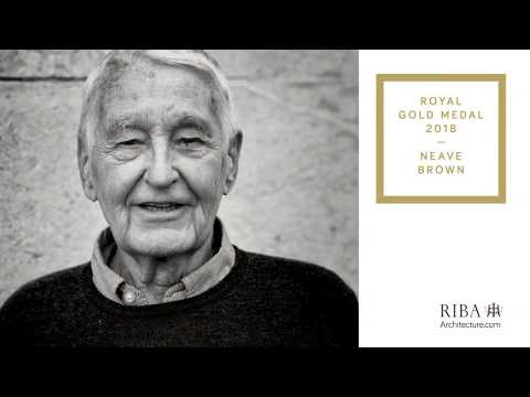 Neave Brown receives the 2018 Royal Gold Medal