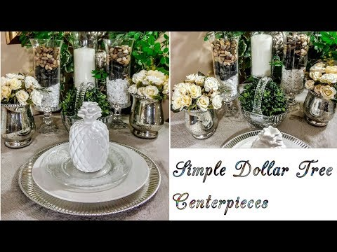 How to| DIY Simple Elegant Dollar Tree Spring Centerpieces🌼| Home decor💖| Tips + Fun Chit Chat😉|