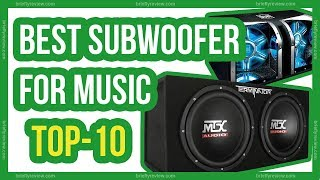 Best subwoofers in 2018 | Top 10 Best subwoofer for music