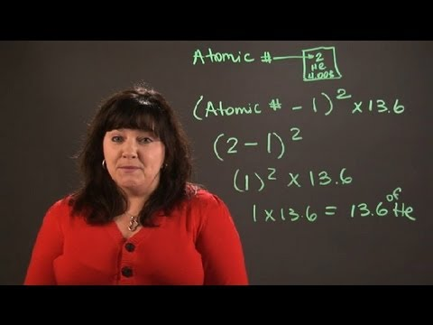 How to Calculate the Ionization Energy of Atoms : Chemistry and Physics Calculations