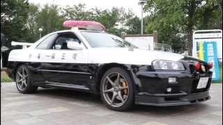 【埼玉県警高速道路交通警察隊】ニッサン・スカイラインR34GT-Rのパトカー【Japan Police car】