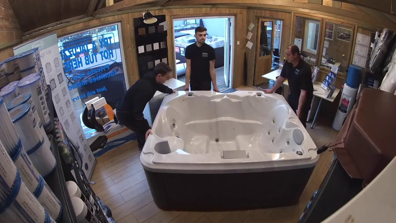Jacuzzi J-215 - Showroom Installation by All Weather Leisure - YouTube