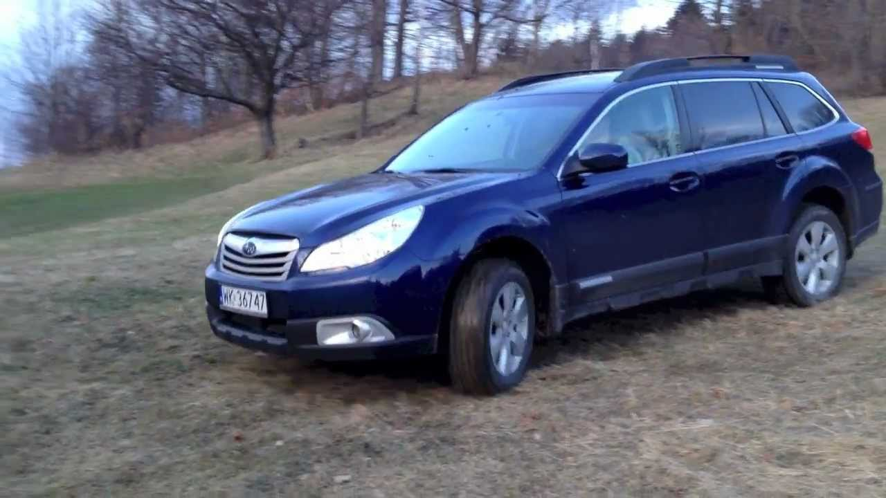 Subaru outback 25i cvt 2010 first time in off road youtube vanachro Choice Image