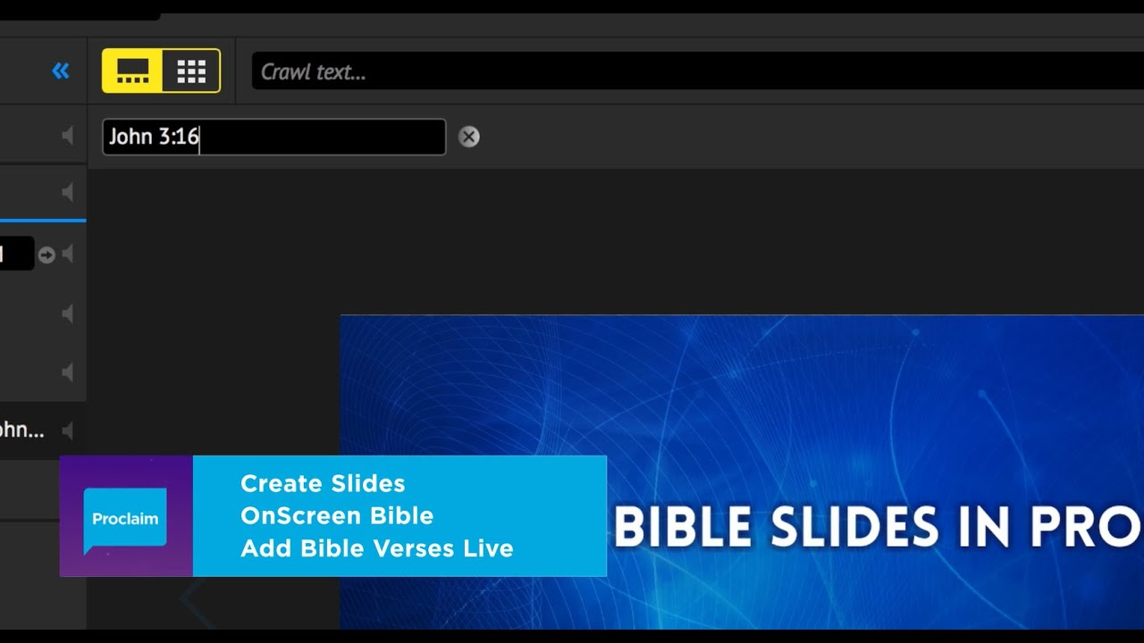 How to Make Bible Slides in Proclaim