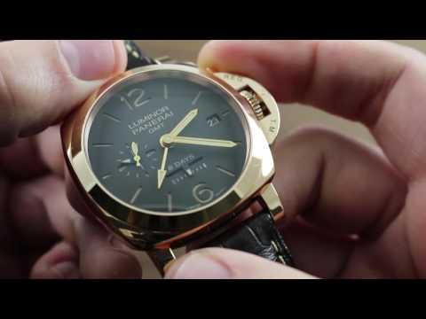 Panerai Luminor 1950 8 Days GMT Oro Rosso PAM 576 Showcase Review