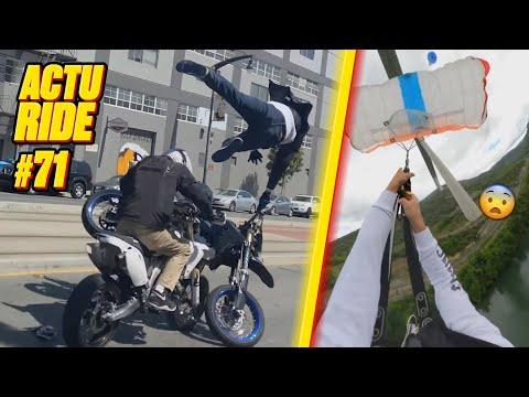 ACTU RIDE #71 : Accident spectaculaire en BikeLife, Grosse frayeur en base-jump, Plongeon XXL !