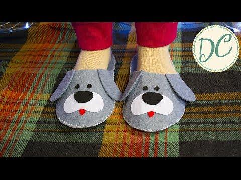 Подарок На Новый Год! Тапочки Из Фетра Своими Руками!