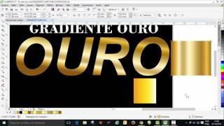 Como Criar Gradiente ouro no Coreldraw X7  m2