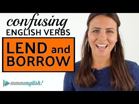 Confusing English Verbs | LEND & BORROW