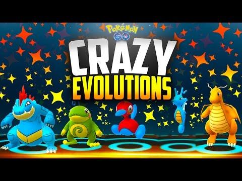Pokemon Go - CRAZY EVOLUTIONS! (RAREST POKEMON GO GEN 2 EVOLUTIONS!)