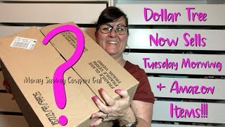 DOLLAR TREE NOW SELLS TUESDAY MORNING & AMAZON ITEMS!!!