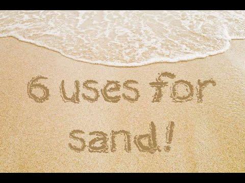 Usage of sand