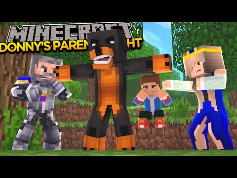 Minecraft - Donut the Dog Adventures -DONNY'S PARENTS HAVE A HUGE FIGHT!!!!