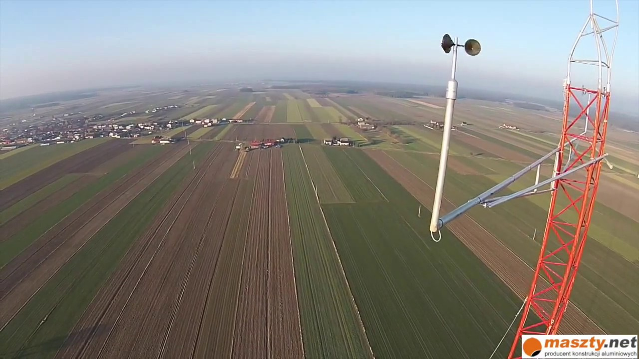 120m instalacja / measurement 120m mast installation