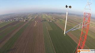 120m instalacja / measurement mast installation
