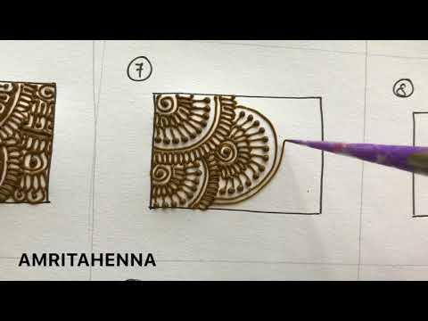HENNA MEHNDI FOR BEGINNERS - TYPES OF FILLING PATTERNS | BEST ONLINE MEHENDI LEARNING TUTORIAL