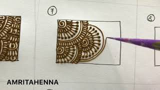 HENNA MEHNDI FOR BEGINNERS - TYPES OF FILLING PATTERNS | BEST ONLINE MEHENDI LEARNING TUTORIAL