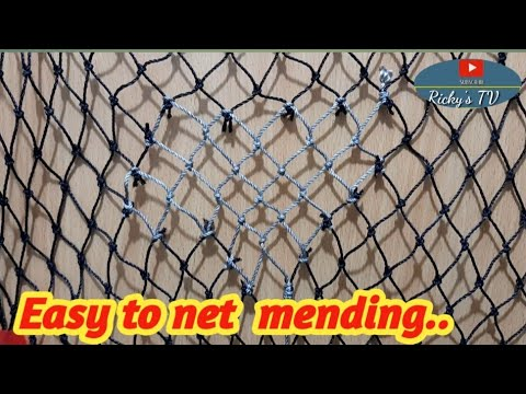 BE THE BEST NET FISHING|NET MENDING|How  To Repair  Step  By  Step.