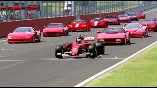 Ferrari F1 2017 vs All Ferrari Supercars - EPIC BATTLE